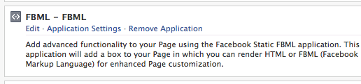 Added Facebook Application in Edit Page view