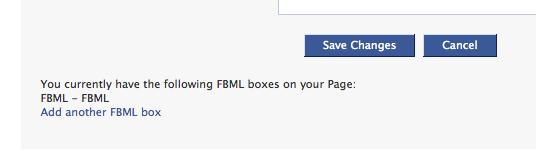 Add more FBML boxes to your Facebook Page
