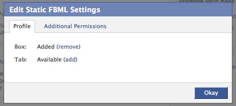 Application Settings Add it as a Tab