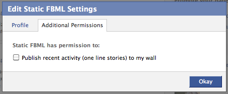 Application Settings Enable Wall posts