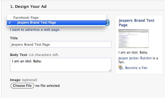 Design you Facebook Ad