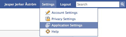 Removing a Facebook Application