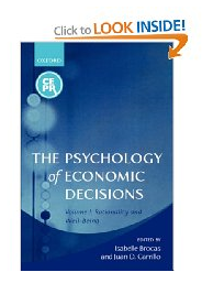 The Psychology of Economic Decisions - Book - Amazon