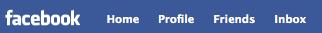 Selecting Friends button on Facebook menu