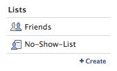 Facebook Friends List created