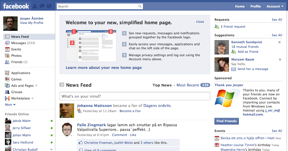 3 Reasons to like the New Facebook Design