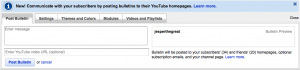 YouTube Bulletins to your Subscribers