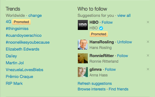 What is a Promoted Trend on Twitter?