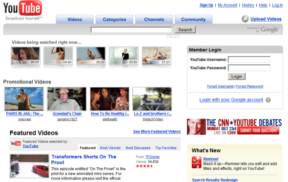 YouTube's Change from Website to Hub for Social Objects